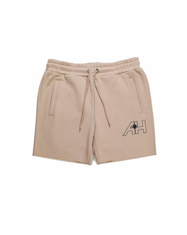 ALMOST HOME TAN SWEATSHORT