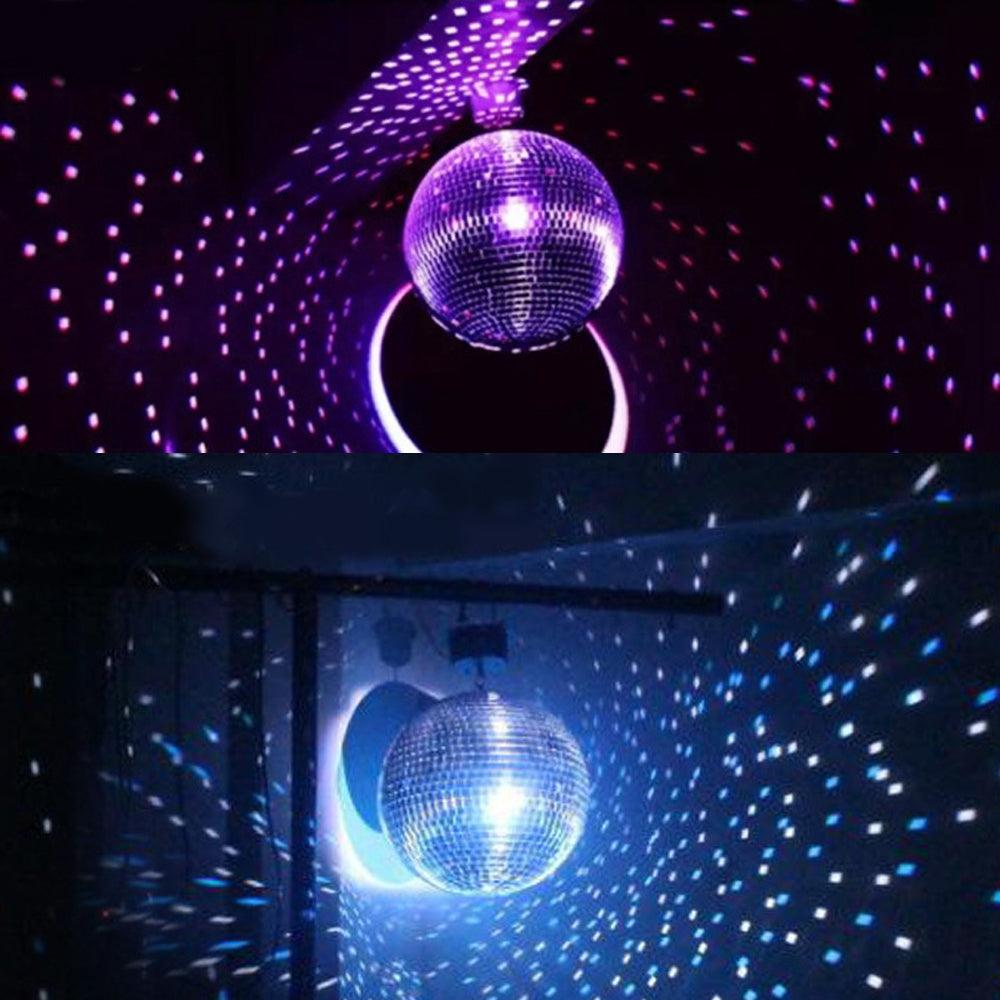 Silver Glass Mirror Disco Ball With Hanging Strings | Christmas Ornaments