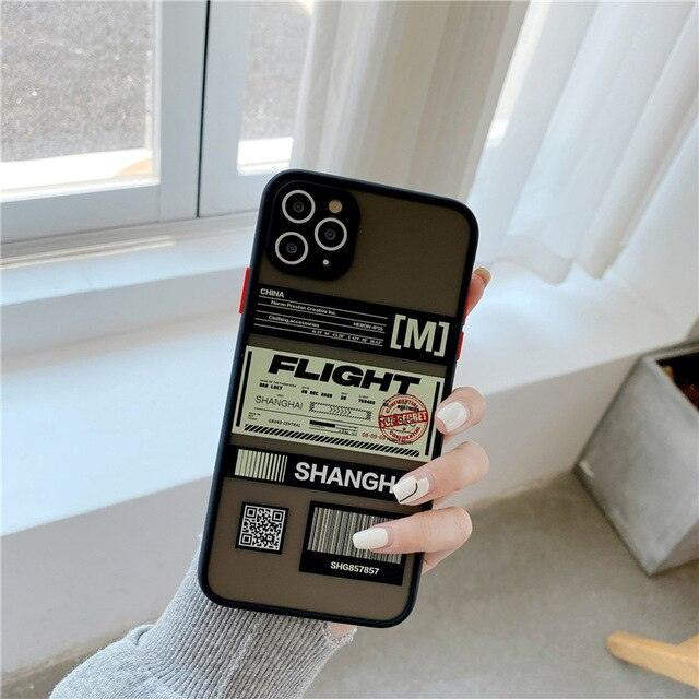 High quality camera protection QR code ticket label soft Silicon Phone Case For iphone