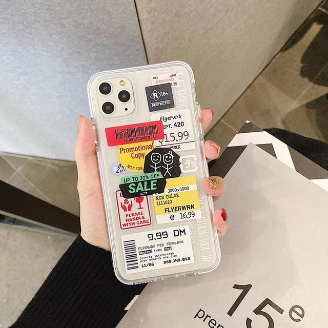 Hot Instagram QR code tags soft Silicon Phone Case For iPhone xr
