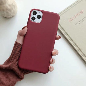 Cute Matte Solid Candy Phone Case for Iphone 11 Case 11 Pro Max Xs Max Xr Simple Case