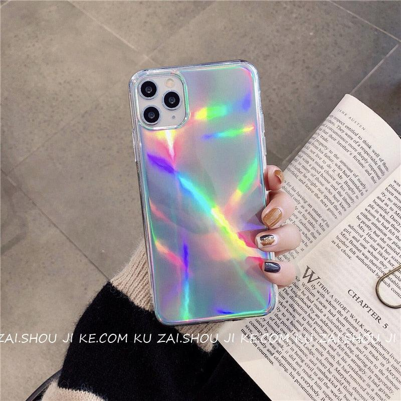 Shining Bling laser soft Silicon Phone Case For Apple iPhone 6 7 8 Plus X XS XR MAX 11