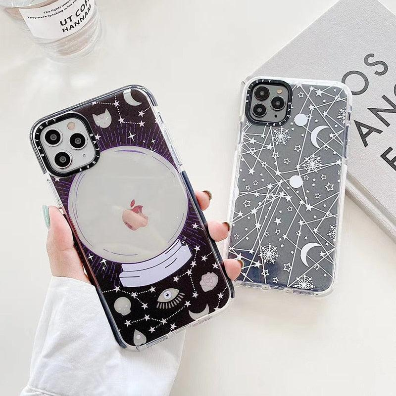 Magic ball Moon constellation Silicon Phone Case For iphone 7 8 Plus X XS XR MAX 11