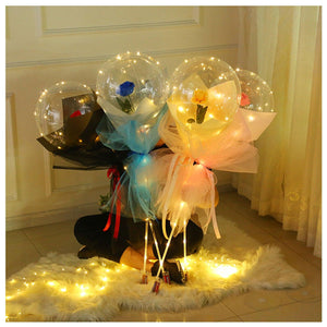 Balloon Flower Bouquet - Flower in Balloon for Gift and Home Decoration