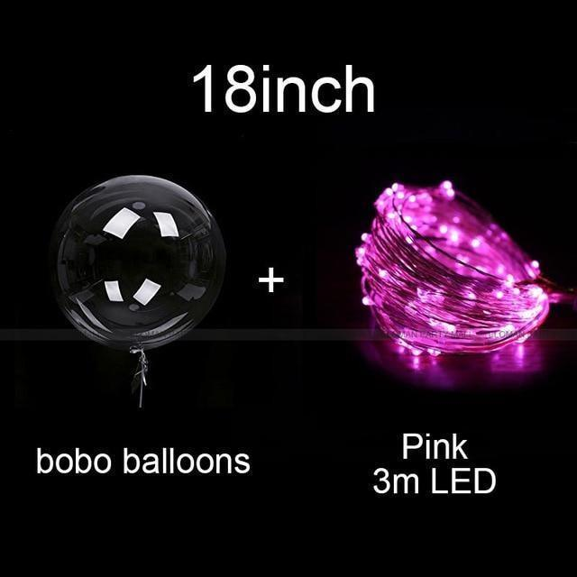 Reusable Led Clear Balloons Party Decorations