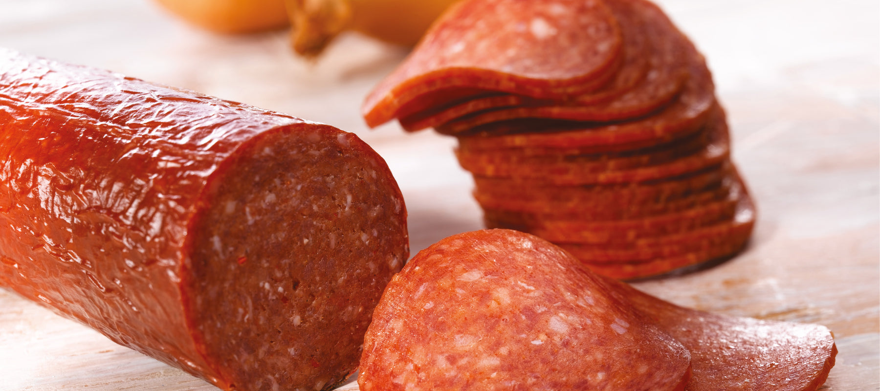 salami and pepperoni sausage casing