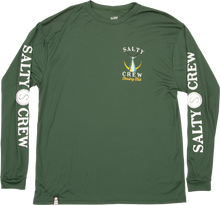 Load image into Gallery viewer, Salty Crew Men's Tailed Tech Long Sleeve Rash Guard - spruce