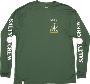 Salty Crew Men's Tailed Tech Long Sleeve Rash Guard - spruce
