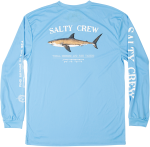 Salty Crew Men's Bruce Long Sleeve Rash Guard - Colombia blue