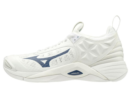 Mizuno Women's Wave Momentum White/Navy 430260