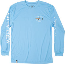 Load image into Gallery viewer, Salty Crew Men's Bruce Long Sleeve Rash Guard - Colombia blue