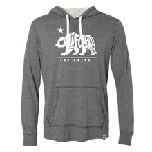 Load image into Gallery viewer, Los Gatos Men's Cali Bear Champion Pullover Hood - charcoal heather with white  logo