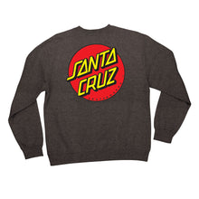 Load image into Gallery viewer, Santa Cruz Men's Classic Dot Crew Neck Sweatshirt - charcoal heather