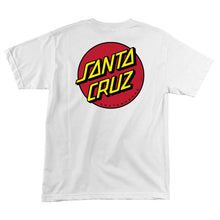 Load image into Gallery viewer, Santa Cruz Youth Classic Dot T-Shirt - white
