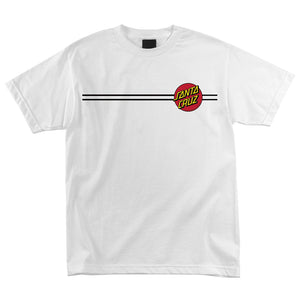Santa Cruz Youth Classic Dot T-Shirt - white