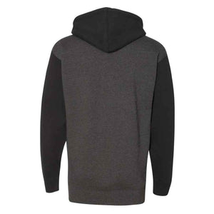 Los Gatos Men's Cali Bear Pullover Hoodie - charcoal heather/black