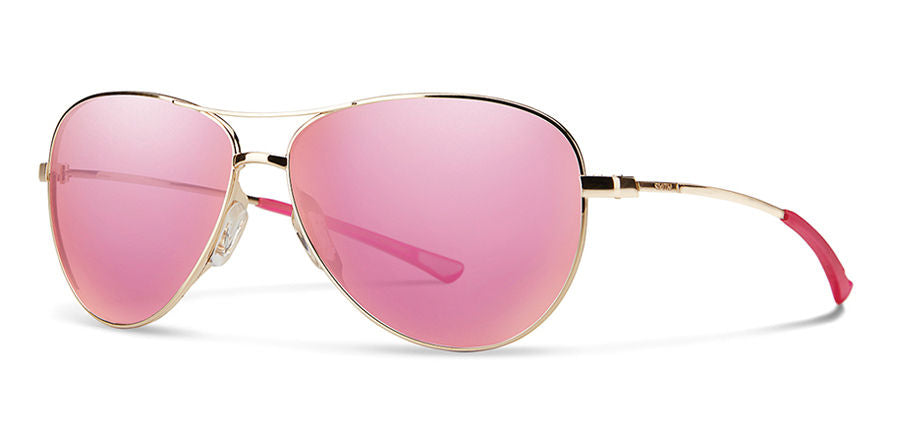 Smith Langley Sunglass - gold - pink mirror lens