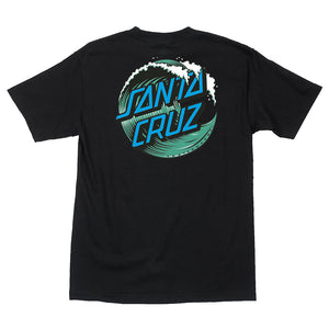 Santa Cruz Men's Wave Dot T-Shirt - black