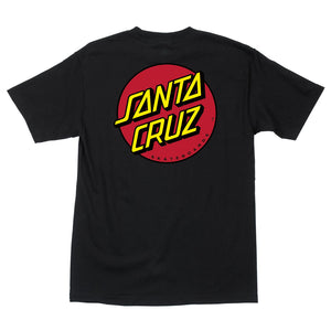 Santa Cruz Men's Classic Dot T-Shirt - black