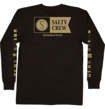 Load image into Gallery viewer, Salty Crew Men's Alpha Premium Long Sleeve Shirt - black