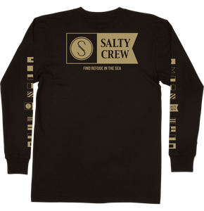 Salty Crew Men's Alpha Premium Long Sleeve Shirt - black