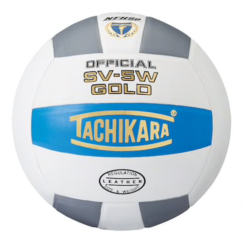 Tachikara SV5W-Gold Volleyball - blue/white/gray