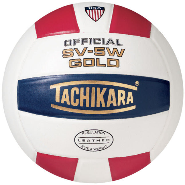 Tachikara SV5W-Gold Volleyball - red/white/navy