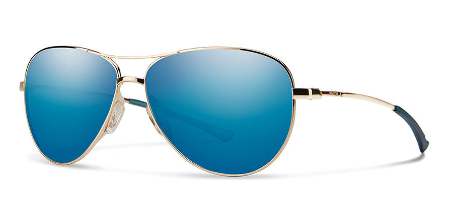 Smith Langley Sunglass - gold - blue mirror lens