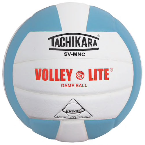 Tachikara Volley-Lite Volleyball - powder blue/white