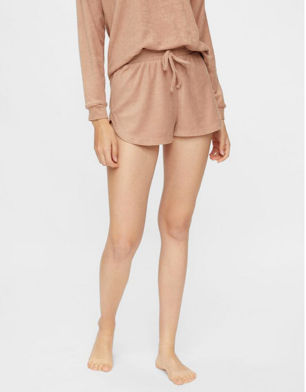 SWEAT SHORTS FROTTEE TAUPE