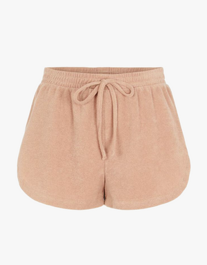 SWEAT SHORTS FROTTEE TAUPE (2 Farben)