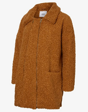 MAMALICIOUS TEDDY JACKE/MANTEL 2in1 TOBACCO BROWN