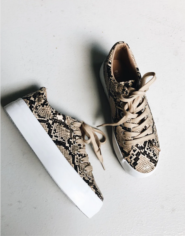 PIECES SNAKE SNEAKER NATURAL