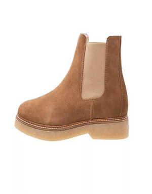 PIECES PSPAMELIN SUEDE LEDER BOOT COGNAC