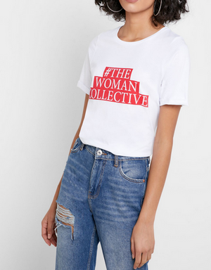 OBJECT THE WOMAN TEE WHITE (2 Farben)