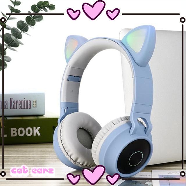 LED Cat Ear Bluetooth Headphones