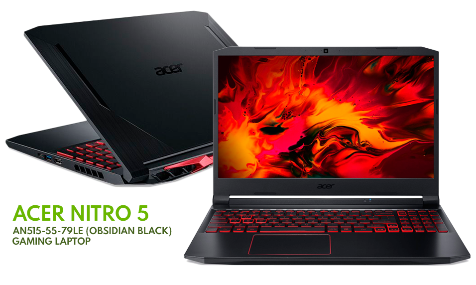 Acer Nitro 5 Gaming Laptop An515 55 79le Acer Ergonomic Folding Work Datablitz