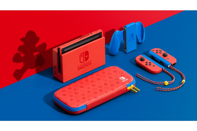 NINTENDO SWITCH CONSOLE MARIO RED & BLUE EDITION (INCLUDES CARRYING CASE) (MDE)