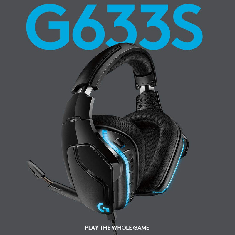 LOGITECH G633S WIRED 7.1 LIGHTSYNC GAMING HEADSET
