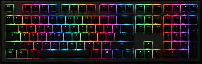 DUCKY SHINE 7 GUNMETAL RGB LED DOUBLE SHOT PBT MECHANICAL KEYBOARD CHERRY RGB RED (DKSH1808ST-RUSPDAHT1)