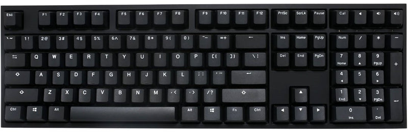 DUCKY ONE 2 PHANTOM BLACK PBT MECHANICAL KEYBOARD BLACK CASE (CHERRY BLUE SWITCH) (DKON1808-CUSPDAABW)