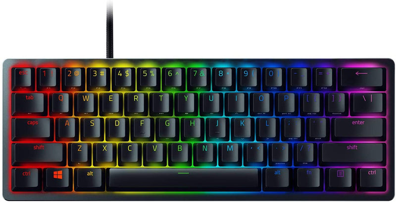 RAZER HUNTSMAN MINI OPTICAL MECHANICAL GAMING KEYBOARD (LIGHT &CLICKY) (PURPLE SWITCHES)