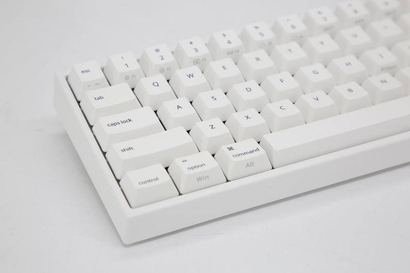 DUCKY MIYA PRO MAC WHITE LED PBT MECHANICAL KEYBOARD CHERRY MX RED (MY68CR2W/WWM2A)