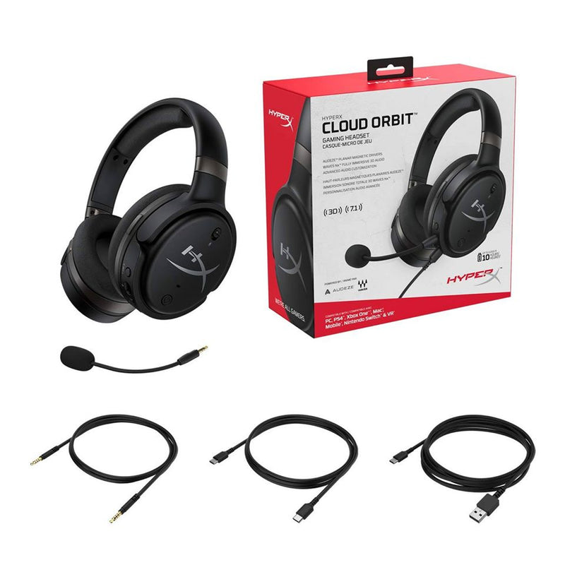 HYPERX CLOUD ORBIT S GAMING HEADSET BLACK FOR PC/PS4/XB1/MAC/MOBILE/NSW/VR