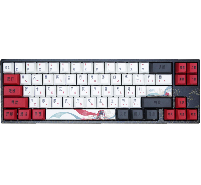 DUCKY MIYA PRO BEIJING OPERA DOUBLE SHOT PBT MECHANICAL KEYBOARD (RED SWITCH) (MY68NR1N/LL3DJ2PV)