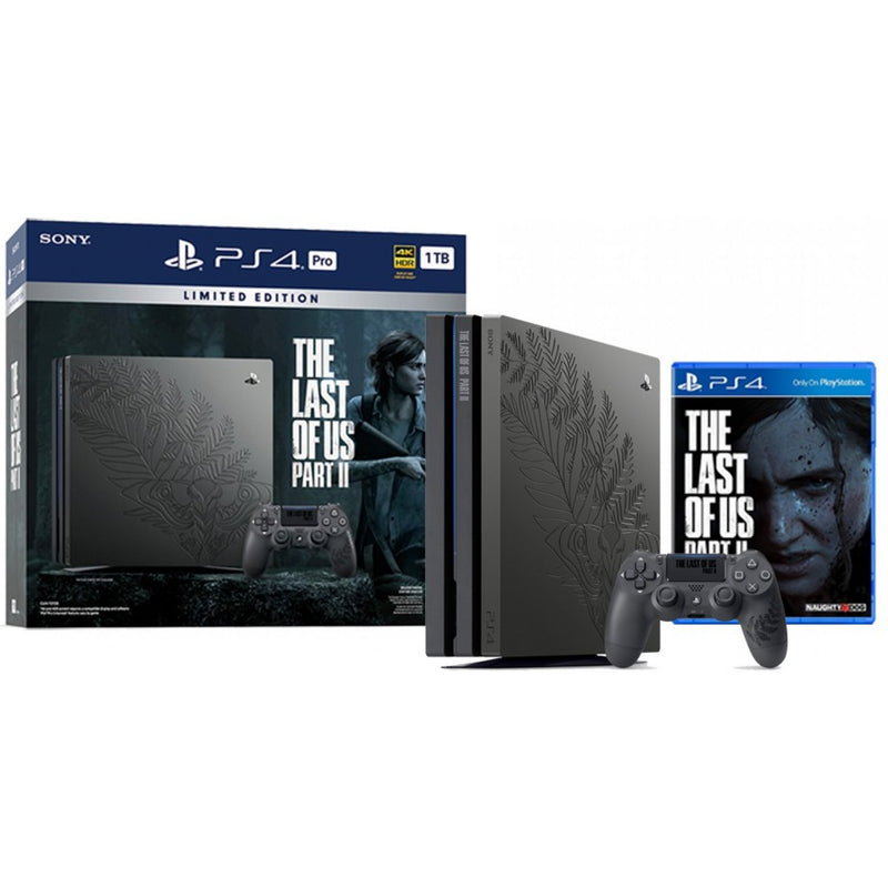 PS4 CONSOLE 1TB PRO CUH-7218B BZTX REG.3 THE LAST OF US PART II LIMITED EDITION