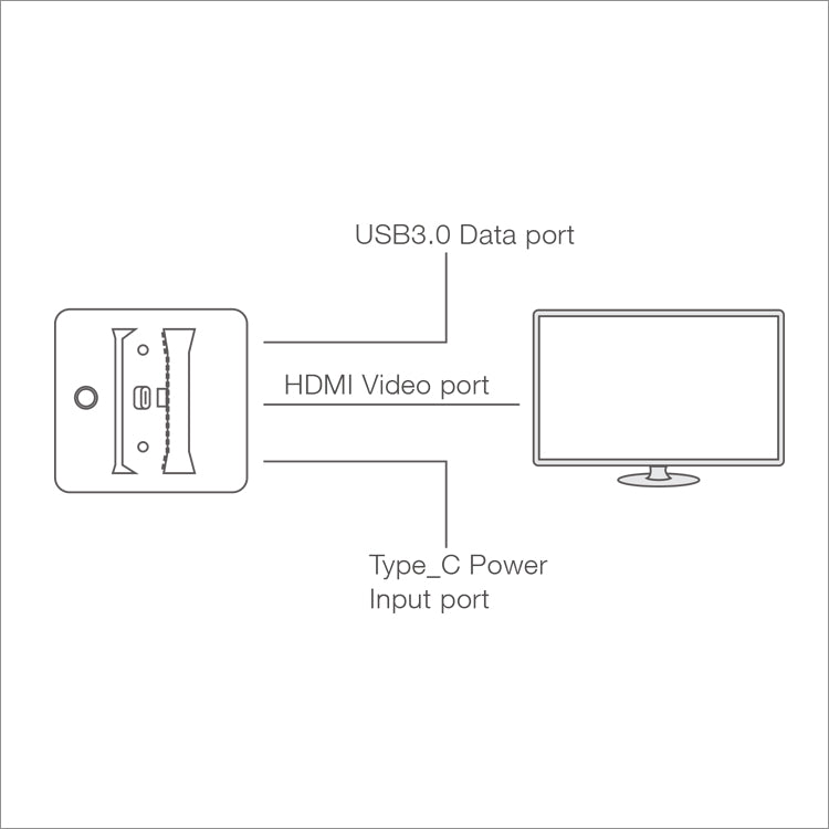 DOBE NSW VIDEO CONVERTER DOCK FOR N-SWITCH HDMI ADAPTOR (TNS-1828)