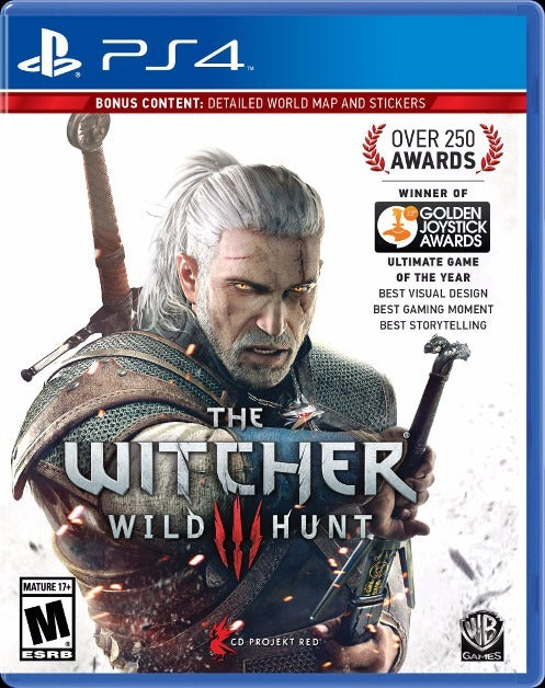 PS4 THE WITCHER III WILD HUNT ALL WITH BONUS CONTENT