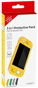 NINTENDO SWITCH LITE CORAL PINK  + DOBE 3 IN 1 PROTECTIVE PACK YELLOW (TNS-19180) + NSW-HARVEST MOON MAD DASH (US)(ENG/FR) BUNDLE
