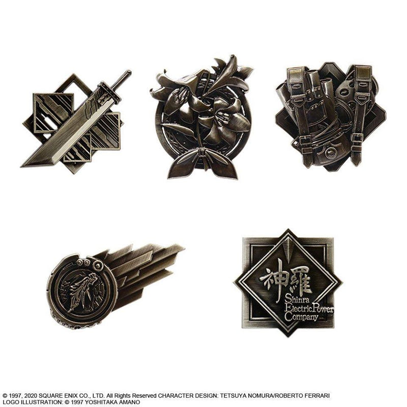 FINAL FANTASY VII REMAKE PIN BADGE (BLIND BOX) [ONE (1) RANDOM PIN BADGE]